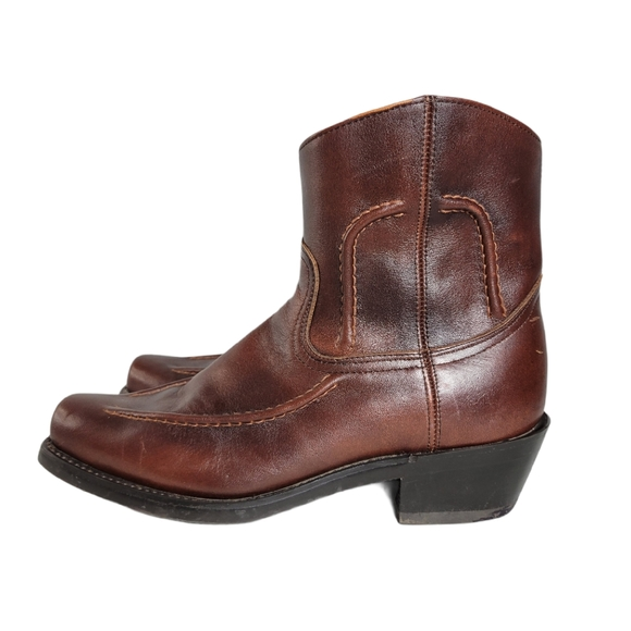 Durango brown leather ankle boots size 7EE